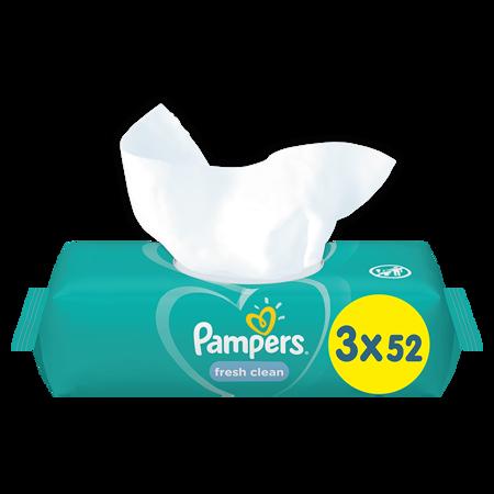 Pampers® Otroški čistilni robčki Fresh Clean 3x52 kosov