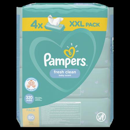 Slika Pampers® Otroški čistilni robčki Fresh Clean 4x80 kosov