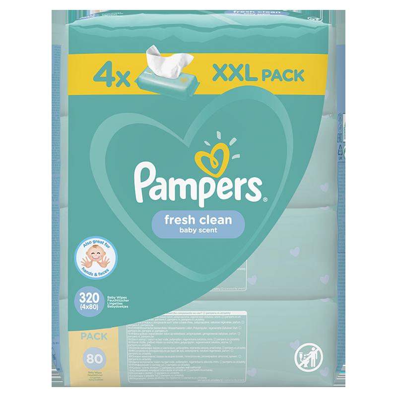 Pampers® Otroški čistilni robčki Fresh Clean 4x80 kosov