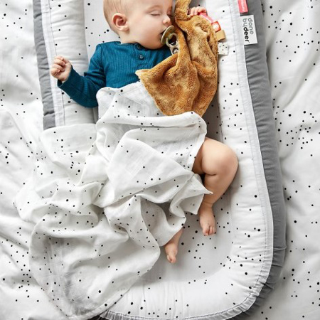 Picture of Done by Deer® Burp cloth 2-pack Dreamy dots White