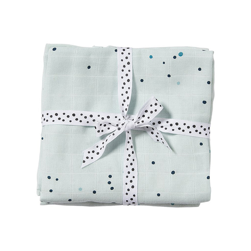 Immagine di Done by Deer® Set  pannolini burp Dreamy Dots Blu 70x70