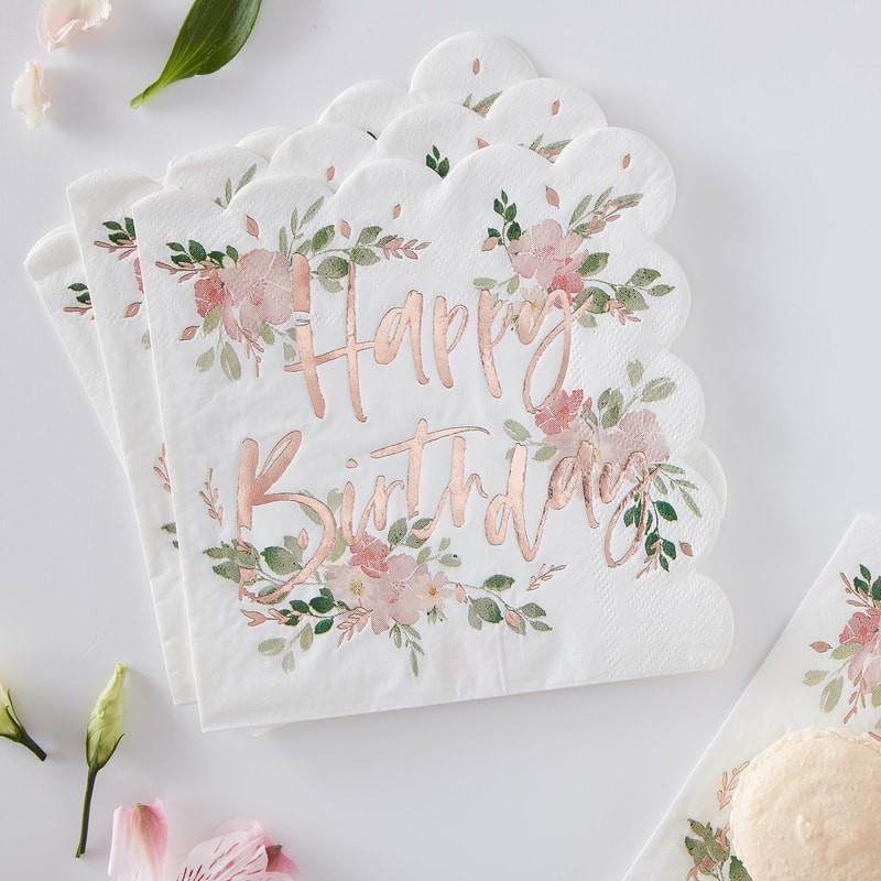 Ginger Ray® Papirnate serviete Ditsy Floral 16 kosov