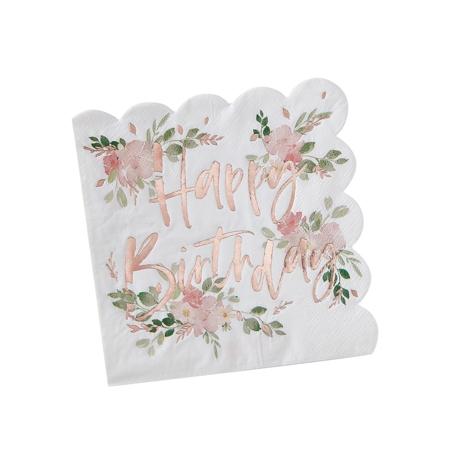 Slika Ginger Ray® Papirnate serviete Ditsy Floral 16 kosov