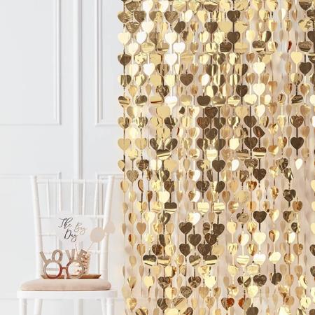 Immagine di Ginger Ray® Decorazione Tenda per photoshooting Gold Heart