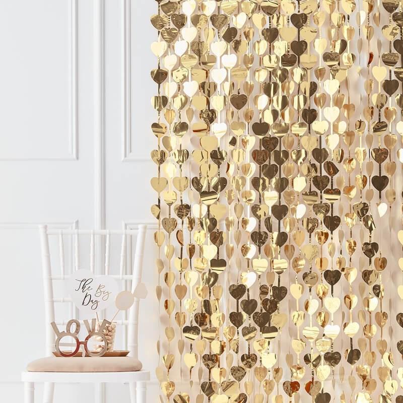 Ginger Ray® Viseča zavesa za fotografiranje Gold Heart