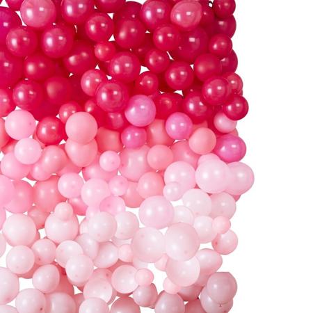 Immagine di Ginger Ray® Sfondo di palloncini Ombre Pink