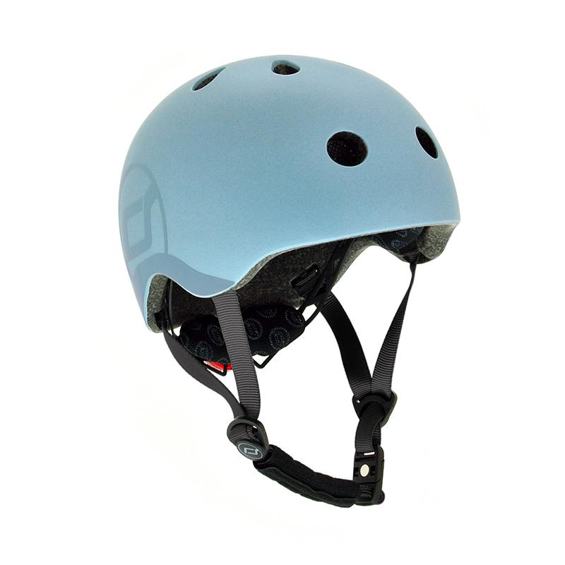 Scoot & Ride® Otroška čelada S-M (51-55cm) Steel