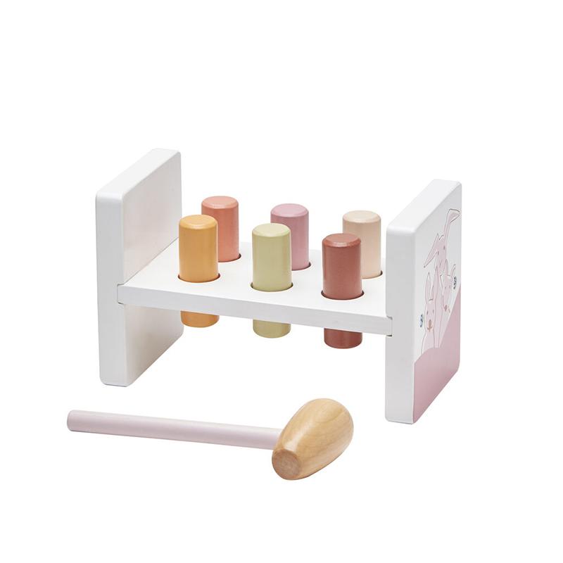 Kids Concept® Lesena igračka s kladivom Edvin Pink