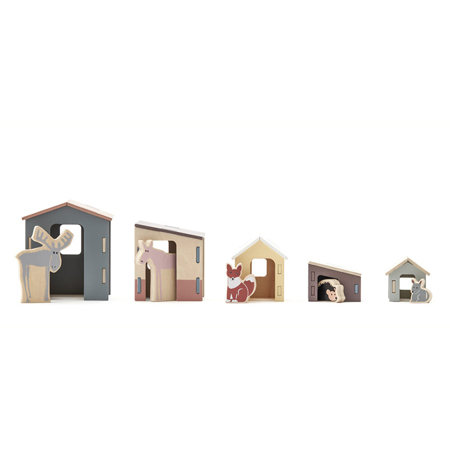 Immagine di Kids Concept®  Set piccole casette in legno