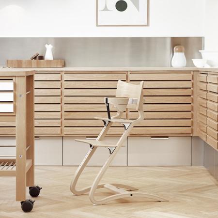 Slika Leander® Otroški stol za hranjenje Natural