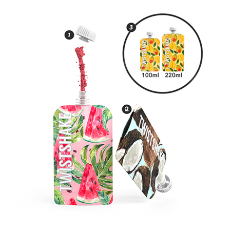 Twistshake® Squeeze vrečke 3x100ml Marble
