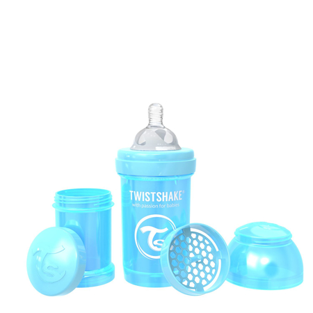 Slika Twistshake® Steklenička Anti-Colic 180ml (0+m) Pearl Blue