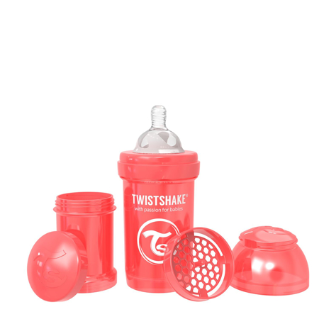 Slika Twistshake® Steklenička Anti-Colic 180ml (0+m) Pearl Red