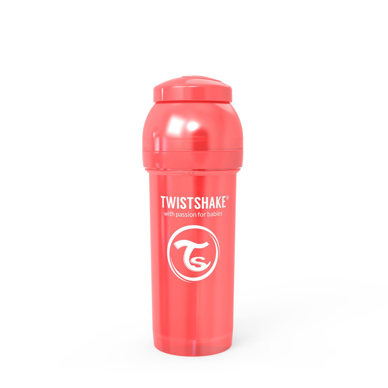 Twistshake® Steklenička Anti-Colic 260ml (2+m) Pearl Red
