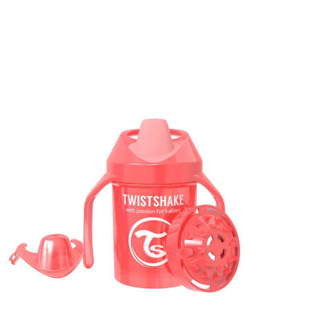 Slika Twistshake® Lonček Mini Cup 230ml (4+m) Pearl Red