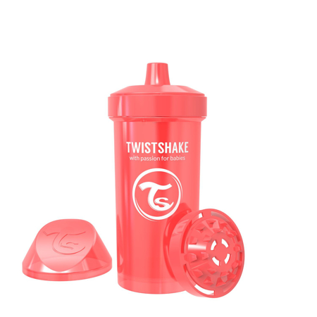 Slika Twistshake® Lonček Kid Cup 360ml (12+m) Pearl Red