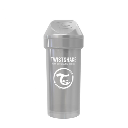 Twistshake® Lonček Kid Cup 360ml (12+m) Pearl Grey