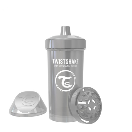 Slika Twistshake® Lonček Kid Cup 360ml (12+m) Pearl Grey