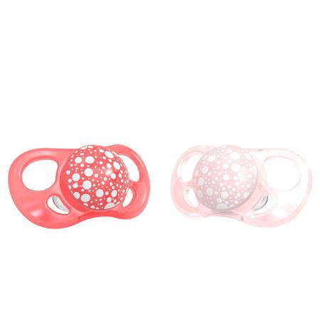 Slika Twistshake® 2x Duda Pearl Pink&Red (0+/6+) - 6+M