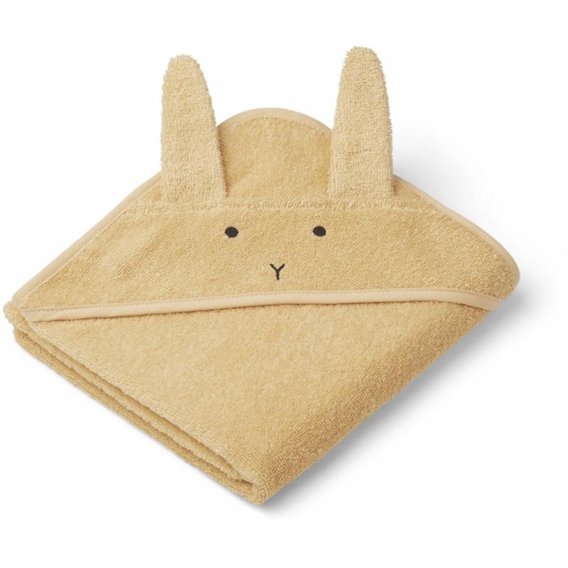 Liewood® Brisača s kapuco Rabbit Smoothie Yellow 70x70