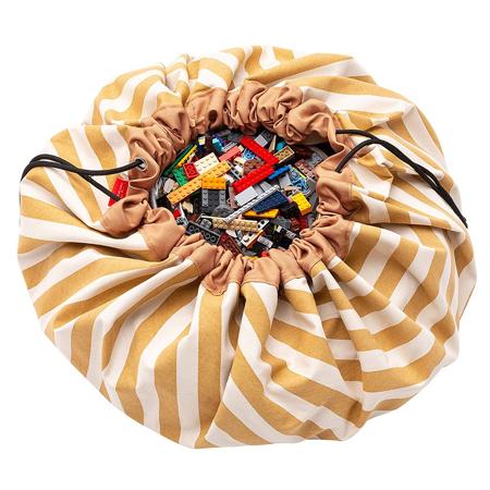 Slika Play&Go® Vreča in podloga Stripes Mustard