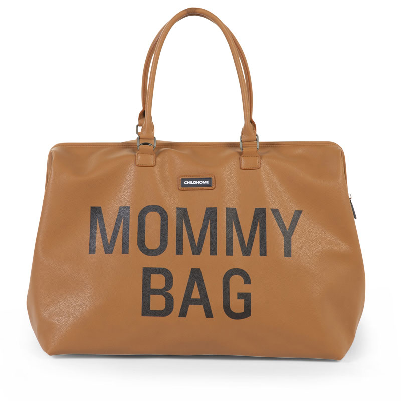 Childhome® Previjalna torba Mommy Bag  Leatherlook Brown