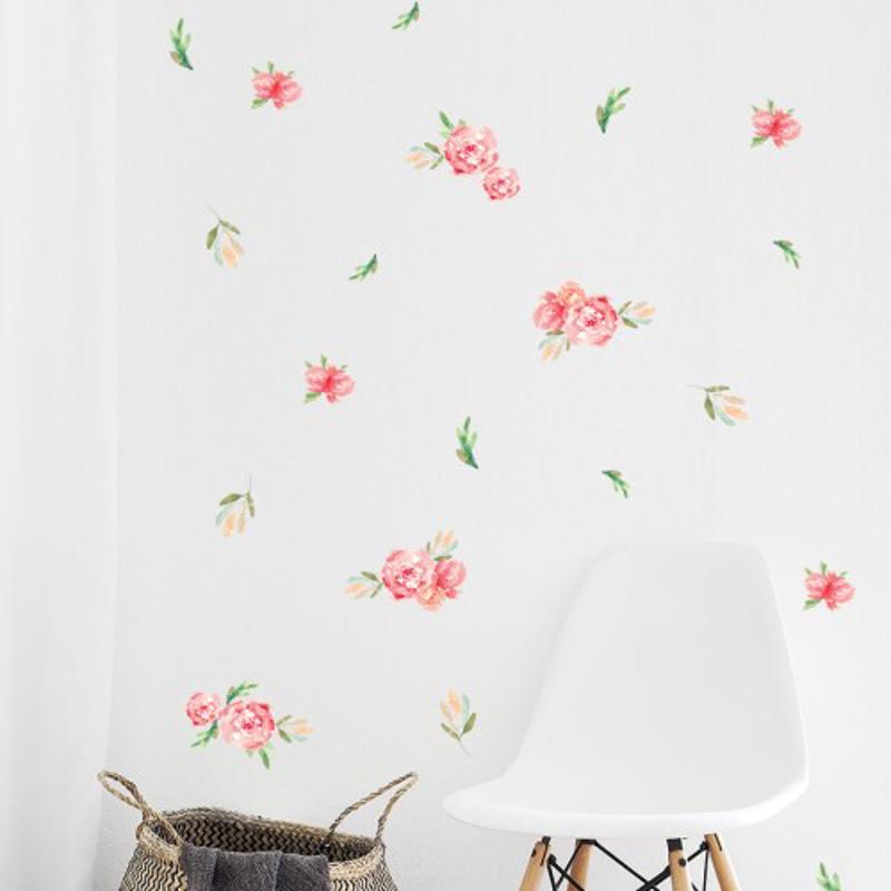 Pick Art Design® Stenske nalepke Rože manjše