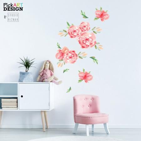 Slika Pick Art Design® Stenske nalepke Rože