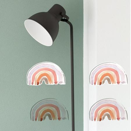 Slika Pick Art Design® Stenske nalepke Samorog z mavricami manjši