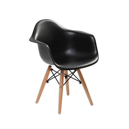 Slika EM Furniture Eiffel Otroški stolček Arm Black