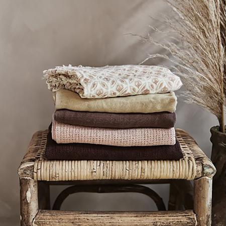 Elodie Details® Pletena volnena odejica Powder Pink 70x100