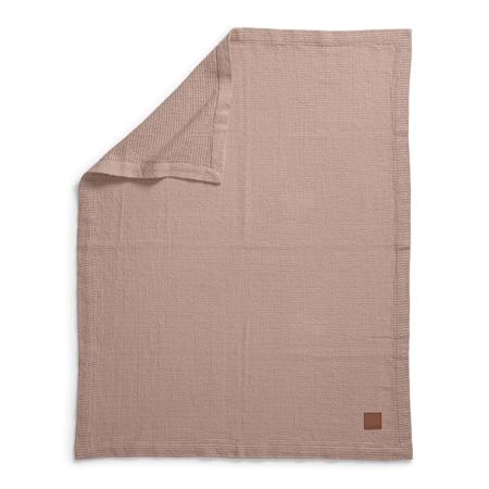 Slika Elodie Details® Pletena volnena odejica Powder Pink 70x100