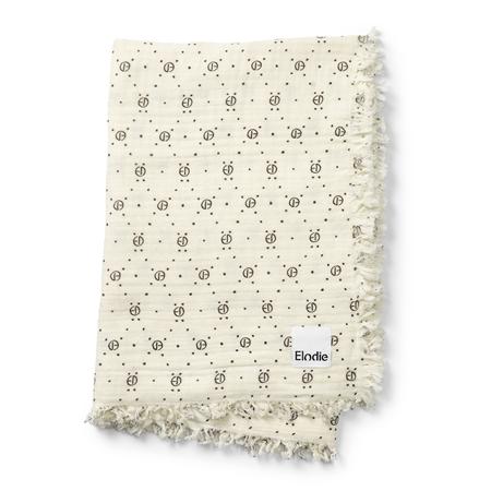 Elodie Details® Mehka bombažna odejica Monogram Print