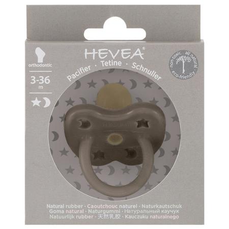 Hevea® Ortodontska duda iz kavčuka Shitate Grey LUNA&ZVEZDICE