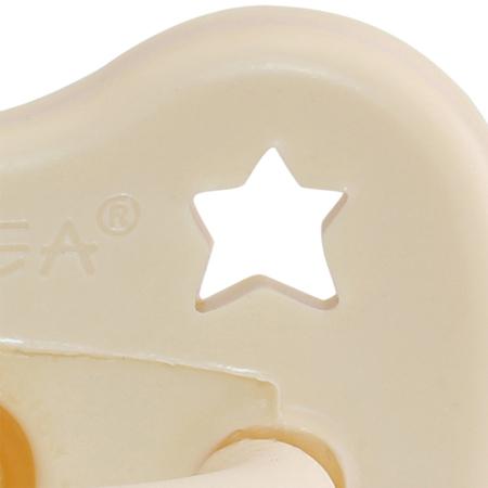 Slika Hevea® Tolažilna duda iz kavčuka Milky White LUNA&ZVEZDICE