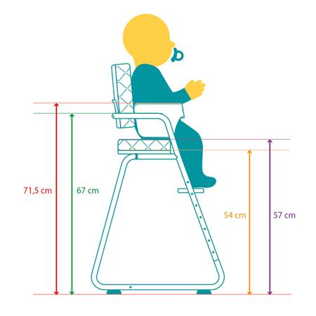 Charlie Crane® Visok stolček za hranjenje TIBU Tod Pink
