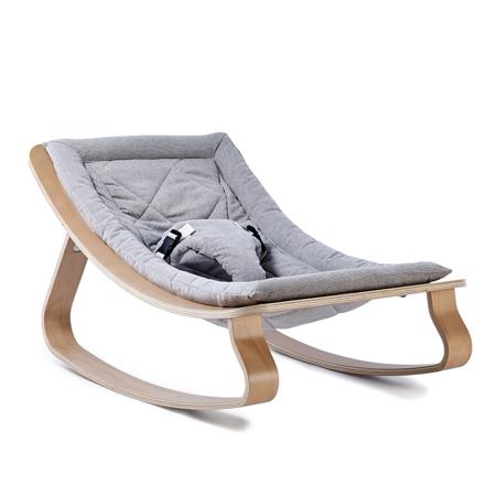 Slika Charlie Crane® Ležalnik in gugalnik za dojenčka LEVO Hetre Grey