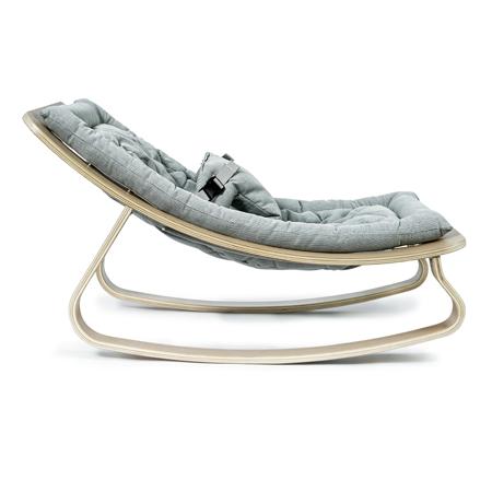 Slika Charlie Crane® Ležalnik in gugalnik za dojenčka LEVO Hetre Blue