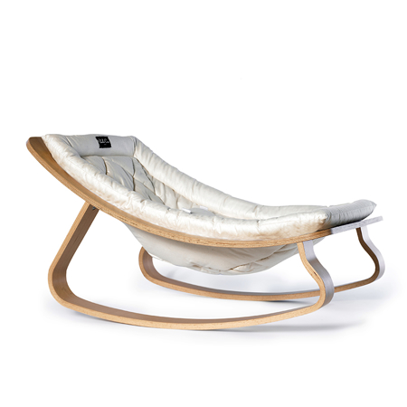 Slika Charlie Crane® Ležalnik in gugalnik za dojenčka LEVO Hetre White