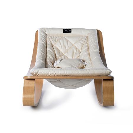 Charlie Crane® Ležalnik in gugalnik za dojenčka LEVO Hetre White