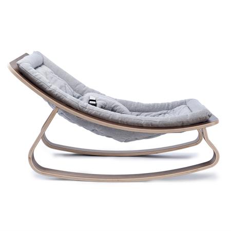 Slika Charlie Crane® Ležalnik in gugalnik za dojenčka LEVO Noyer Grey