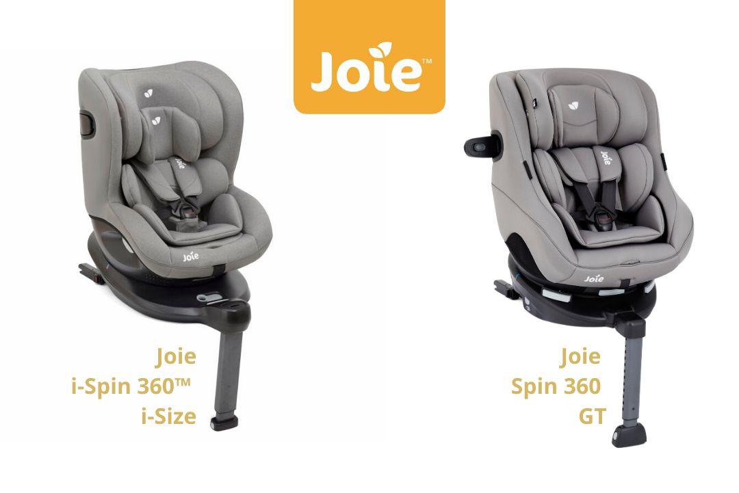 Razlika med otroškim avtosedežem Joie i-Spin 360™ i-Size in Joie Spin 360 GT 0+/1 (0-18 kg)