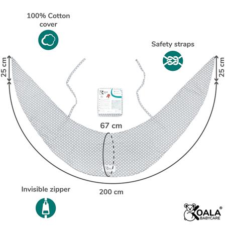 Koala Babycare® Prevleka za blazino za nosečnice Hug Comfy Grey