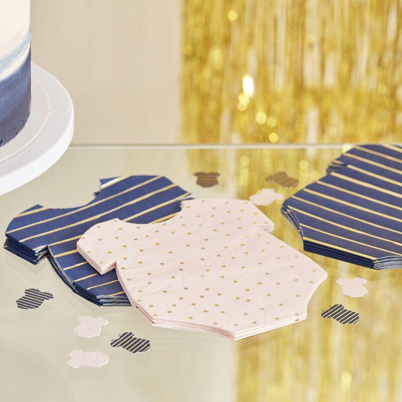 Ginger Ray® Serviete Pink/Navy 16 kosov
