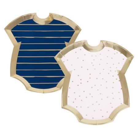 Ginger Ray® Papirnati krožniki Pink/Navy 8 kosov