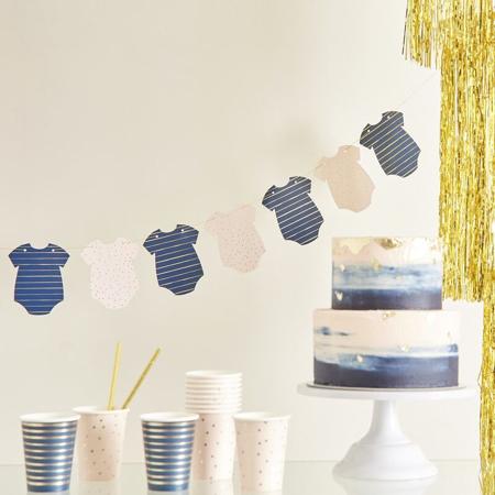 Slika Ginger Ray® Viseča dekoracija za Baby Shower Pink/Navy