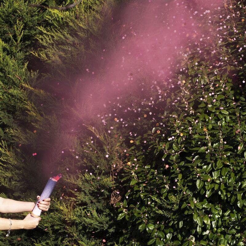 Ginger Ray® Strelec konfetov Pink Smoke