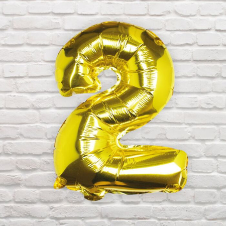 Slika Ginger Ray® Balon Številka 2 Gold