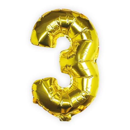 Slika Ginger Ray® Balon Številka 3 Gold