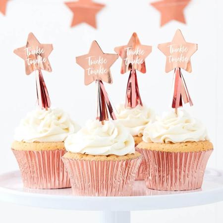 Slika Ginger Ray® Okraski za slaščice Twinkle Twinkle 12 kosov